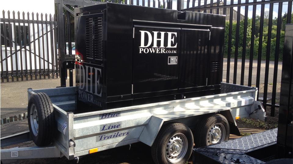 Manchester Stage Hire 60KVA Ultra Silent Road Towable Diesel Generator
